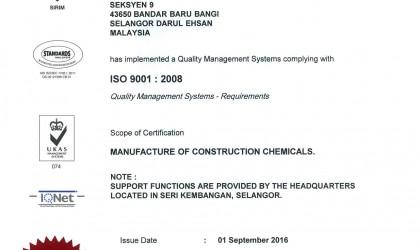 SIRIM ISO 9001 : 2008