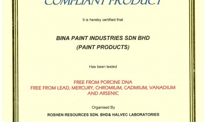 Shariah Compliance Product Certificate