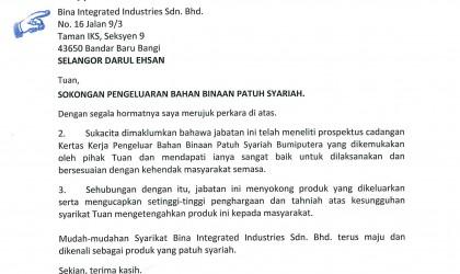 Surat Sokongan Mufti Kedah